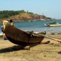 Boats at Om. Photograph by Malavika Bhattacharya.
