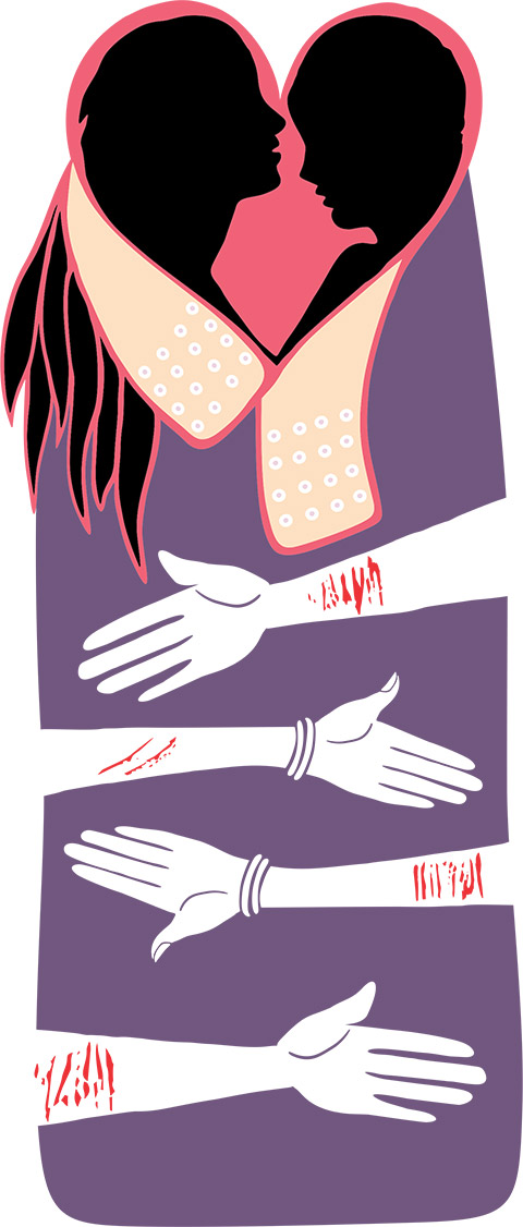 Bandages, illustration by Kamal Singh