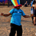 Big rainbow hat: When funk and swagga had a baby. Photograph by Sahil Ahuja.